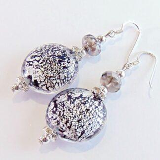 Orecchini Lumiere Black Silver