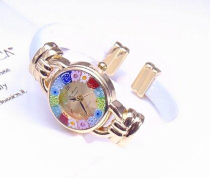 Orologio Bracciale Bianco Gold